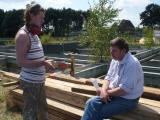 28 juli - bezinkbakkeuken wordt gebouwd